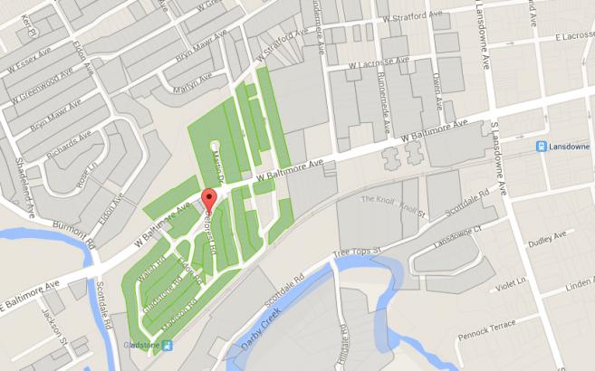 Gladstone Manor Map